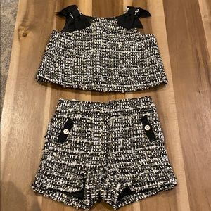 Stunning Janie and Jack tweed two piece set